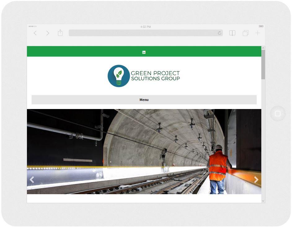 Screen capture of an engineering firm's website